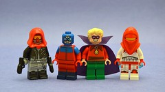 Redux (th_squirrel) Tags: lego dc comics minifig minifigure minifigs minifigures red hood jason todd gcw atom alan scott green lantern classic rocket russia