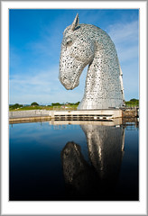 Kelpie Power (flatfoot471) Tags: 2015 canal falkirk forthandclydecanal forthvalley normal scotland sculpture stirlingshire summer thekelpies unitedkingdom
