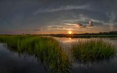 High tide  (kaising_fung) Tags: sunset brooklyn sunburst