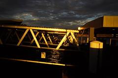 Golden Docks (Blue Mtns. bush girl) Tags: sunset ferry docks sydneyharbour
