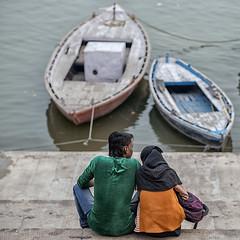 Love in Banaras (Sathish_Photography) Tags: india colors up river boats colours lovers varanasi banaras kasi colourfull uttarpradesh riv gangariver varanasighats erwater coulples sathishphotography sathishkumarphotography