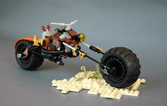 Steampunk-style chopper (9) (adde51) Tags: brown bike chopper desert lego motorcycle steampunk npu adde51