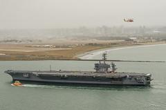 Cabrillo Park and Carrier 70 comes into port... (Jay HTP) Tags: 70 carrier usn htphotos htph0t0s sandiego cabrillopark nikond7000 navy explore ship flatdeck