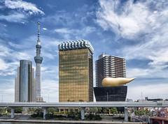 160703 132819 (friiskiwi) Tags: asakusa dragonflytours skyline skytree strangegoldensculptures sumidaku tkyto japan jp