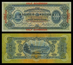 (AUS4a) 1914 Australia Commonwealth of Australia, Ten Shillings (A/R)... (Jos Pestana) Tags: aussh australia fondonegro fotografa jospestana oceana simbolo sony sonynex sonynex6