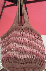 Maybe a few less plastic bags will be used (Pink Knitter) Tags: bag knitty