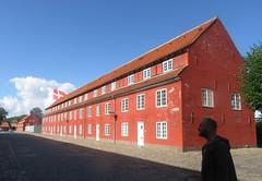 Shadows at the Citadel (Kastellet)  (1626) (cohodas208c) Tags: barracks fort citadel kastellet copenhagen bluesky redbuilding kingchristianiv