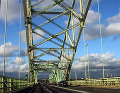 Northern England #0077 Widnes 140911 Runcorn-Widnes Bridge (Steveox55) Tags: road bridge merseyside widnes