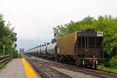 Rear buffer (Michael Berry Railfan) Tags: cp canadianpacific cp650 ethanoltrain unittrain buffercar montreal lasalle adirondacksub quebec train freighttrain