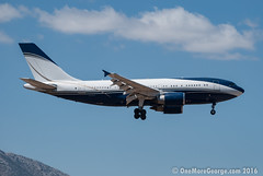 Have you seen an executive A310 lately? (onemoregeorge.frames) Tags: 2016 ath august d40x greece lgav nikon omg onemoregeorge hznsa a310 airbus bizjet widebody heavies