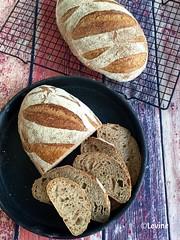 Lichtbruin landbrood (desem + gist) (Levine1957) Tags: brood bread zuurdesem sourdough