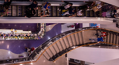 Shopping (PrasadNandam) Tags: jervis shopping dublin ireland top view stairs escalator people crowd restaurant food structure architecture