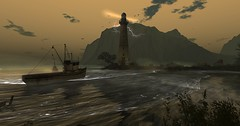 the storm (flubs) Tags: landscape sl secondlife virtual firestorm water clouds nature