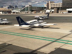 (don1775) Tags: avationphotography planespotting aviation transporation planes 2016 airport n4652n capeair fall bos boston tarmac loganinternationalairport iphone propeller cessna402 cessna