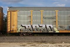 Bozo (quiet-silence) Tags: graffiti graff freight fr8 train railroad railcar art bozo h2 etc ferromex ttgx981242