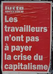 Les travailleurs n'ont pas  payer (emmanuelsaussieraffiches) Tags: poster political politique affiche lutteouvrire