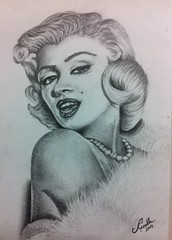 marilyn monroe (alicirakli) Tags: portrait people white black sexy celebrity art beautiful smile face lines marilyn female pencil portraits hair paper movie star eyes panda artist gallery shadows artistic drawing details famous memories fine fame drawings highlights artists blonde monroe actress celebrities steven earrings mole museums tones legend soe finest realism realistic on shading chateauneuf flickrs 2013 images1  artisawoman ringexcellence flickrstruereflection1 flickrhoto