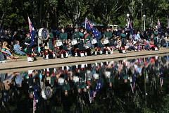 Scots College Massed Pipe Band (Wanderer and Wonderer) Tags: people music drums march memorial war sydney band ceremony australia hydepark marchingband anzac anzacday