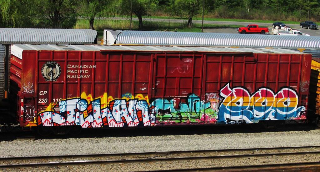 Jihan Chnk Rpe  Timetomakethepasta Tags Train Graffiti Pacific Canadian