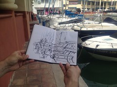 2015-04-04 Puerto Marina 4 (Michael Schmidt Waters) Tags: urban marina puerto botes sketch barcos boceto sketcher
