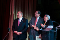 Gov. Edward Rendell, David L. Cohen, and Elliot Schwartz
