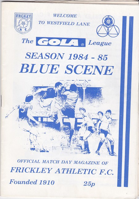 Frickley Athletic V Caernarfon Town 15/9/84 (FA Cup 1st Q)