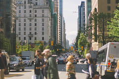 Howe St. Crosswalk in City with Skyscrapers (Image Catalog) Tags: city trees windows people urban bus cars architecture buildings hotel streetlight skyscrapers stoplight crosswalk automobiles publicdomain howestreet