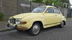 Saab 96 L V4 (sjoerd.wijsman) Tags: auto holland cars netherlands car yellow sedan jaune nederland thenetherlands denhaag voiture gelb vehicle holanda autos saloon geel saab paysbas berline olanda fahrzeug niederlande 96 zuidholland saab96 onk carspotting yellowcars berlina carspot stufenheck cwodlp 7626vp sidecode2 31052015