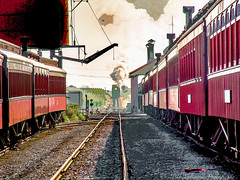 (Paul A Valentine) Tags: antique countryside em5 events freighttrains landscapes olympus olympusem5 passengercars passengertrains railroad railwaystations steamtrains structures trainstations trains vintage vintagebuildings vintagetrains wheels