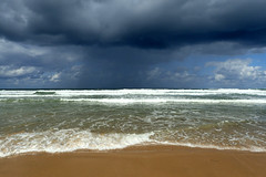 Ocean (denismartin) Tags: denismartin beach sea seashore seaside sand sandybeach sky cloud weather gironde aquitaine montalivet sun rain wave ocean atlanticocean france