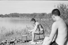 001566650016 (putjka) Tags: kiev4 analog film filmphotography kodak tmax100 bw retro barbecue lake ligo meat