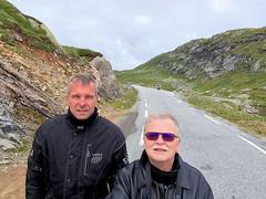 Selfie at the beautiful road 337. (topzdk) Tags: norway mc motorcycle honda bmw 2016 summer austagder vestagder nature