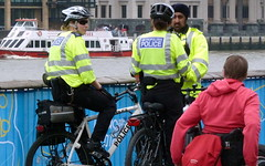 London, Police by bicycle (krinkel) Tags: london bike police fahrrad polizei 2012 olympischespiele olympicgames