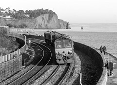 66116 and 66119 Teignmouth (SilsonRoadrunner) Tags: teignmouth 66116