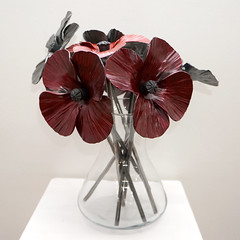 Alan Dawson's Steel Poppies (kailhen) Tags: flower memorial iron belgium steel poppy poppies cenotaph ypres flanders steelworkers somme blacksmiths passchendaele