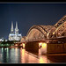 Köln - Hohenzollernbrücke mit Dom 03