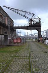 Halfportaalkraan nr. 2, Oostende (Erf-goed.be) Tags: halfportaalkraan kraan vlotdok oostende archeonet geotagged geo:lon=29319 geo:lat=512244 westvlaanderen