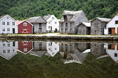 Gamle Lrdalsyri (YIP2) Tags: lrdalsyri lrdal landscape norway fjord sognogfjordane village reflection houses heritage unesco travel architecture building