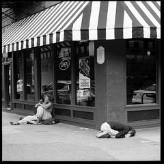 Subway Old Town 16074402 (jimhairphoto) Tags: oldtown portland oregon america streetlife portraits streetstories thtrederue 120mm film hasselblad 120film ilford fp4 blackandwhite blancetnoir schwarzeaufweis blancoynegro blancinegre siyahrebeyaz jimhairphoto