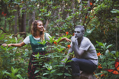 Gwendolyn & Greyson.  322/365 (aleah michele) Tags: bodypaint kryolan aquapaint grey greyson gwendolyn childish childlike story tigerlily tigerlilly butterfly monarch jungle dutch bored fun colorful forest fairytale fantasy flowers flower onceuponatime orange odd wonderful storybook childrensbook playful dutchdress greybodypaint paintedgrey emerypark conceptual conceptualportrait concept calm color chill christian couple 365 365project emotion emerge empty explore expressive aleahmichele aleahmichelephotography adventure