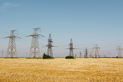 DSC_0209 (Frostroomhead) Tags: sky art field yellow landscape nikon f14 towers sigma wires transmission 30mm d5200
