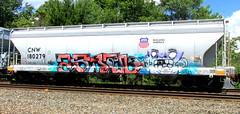 (timetomakethepasta) Tags: freight train graffiti art hopper waly cnw chicago northwestern union pacific up