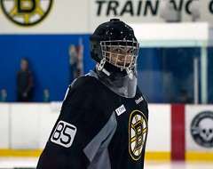 Stephen Dhillon (Odie M) Tags: boston wilmington ristucciamemorialarena bostonbruins developmentcamp rookies 2016developmentcamp nhl hockey icehockey teamsport sport stephendhillon goalie