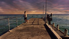 The end of Dromana Pier (Ross Major) Tags: pier dromana victoria australia bay port phillip sky clouds water