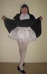 Showing my petticoats (marcia2015au) Tags: tv cd crossdresser crossdressing sissy dressing cosplay petticoats sissymaid maid