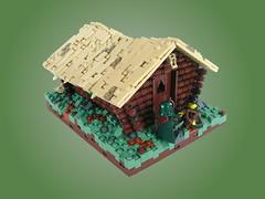 Cabin in the Hills (Mr. Cab) Tags: lego moc lom castle cabin wood hills log foitsop