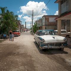 Walk this way (~EvidencE~) Tags: cuba car walking streets holguin taxi lunch evidence