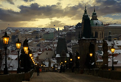 Winter dream.... (Alex Switzerland) Tags: prag praga praha landscape bridge paesaggio cechia czech winter snow inverno canon eos 6d