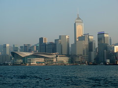 View of Wan Chai from the Star Ferry, Hong Kong () (twiga_swala) Tags:  wan chai wanchai star ferry tsim sha tsui  hkcec  hongkong central plaza hong kong victoria harbour harbor island  road view avenue stars kowloon skyline skyscraper rascacielos  choong chung  busines district   natural asia china city   tst expo convention exhibition centre