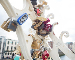Locks of Love (Peter E. Lee) Tags: padlock spring love ireland riverliffey bridge dublin republicofireland lock 2016 ire eire roi ie